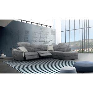 Vasco 3 személyes kanapé 2 karral - Elektromos Relax funkció bal oldalon - AquaClean huzattal